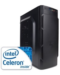Компьютер для офиса Клерк Intel Celeron G3900 2.8 GHz - 2 ядра / 4GB DDR4 / 500GB HDD / DVD-RW / H110M / 400W / Win 10 Pro