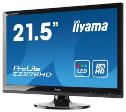 "Монитор TFT 21,5"" IIYAMA E2278HSD glossy-black (TN LED, 5 ms, 5M:1 Full HD1080p)"