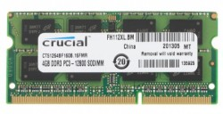 Модуль памяти SO-DIMM DDR3 Crucial 4GB 1600MHz [CT51264BF160BJ] CL11OEM