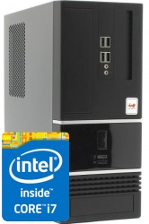 Мини-компьютер Архитектор Intel i7 7700 3.9 GHz - 4 ядра / 16GB DDR4 / 240GB SSD / 1000GB HDD / DVD-RW / H110 / 300W / Win 10 Pro 64