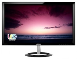 "Мониторы / 23"" / Asus / VX238H LED / 16:9 / 1ms / VGA + DVI + HDMI / LED / 1000:1 / Multimedia / 1920x1080 / 250 кд/м2 / Черный"