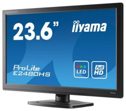"Монитор TFT 23,6"" IIYAMA E2480HS black (TN, LED, 2 ms, 5M:1 Full HD)"