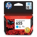 Картридж CZ110AE (№655) HP голубой 600 стр, для Deskjet Ink Advantage 3525/5525/4515/4525/4615/4625/4615/4625/6520/6525