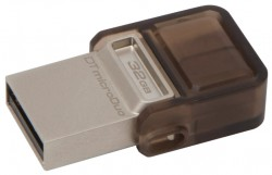 Накопитель Flash USB drive KINGSTON Data Traveler microDuo 32Gb RET brown [DTDUO/32GB]