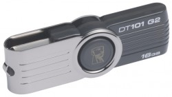 Накопитель Flash USB drive KINGSTON Data Traveler 16Gb RET silver-black [DT101G2/16GB]