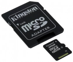 Карта памяти Micro Secure Digital Card 32GB Kingston SDHC Class 4 [SDC4/32GB]