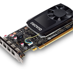 NVIDIA Quadro P1000 PCI-E 3.0, 4GB, 4xMini DisplayPort -