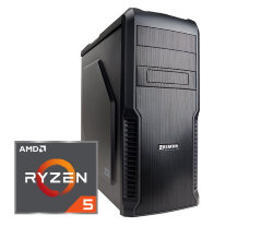 Игровой компьютер Аллигатор 2.0 AMD Ryzen 5 1500X 3.5 GHz 4 Core / 8GB DDR4 / 120Gb SSD / 1000Gb HDD / GeForce GTX 1060 3GB / A320M / Zalman case 600W / Гарантия 3 года