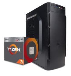 Компьютер для офиса Симпл AMD Ryzen 3 2200G 3.5 GHz 4 Core / 4GB DDR4 / 500Gb HDD / A320M / Zalman case 400W / Гарантия 3 года