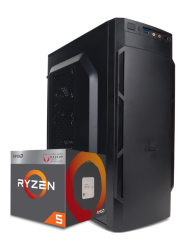 Компьютер для офиса Смарт AMD Ryzen 5 3400G 3.7-4.3 Ghz 4 Core / 8GB DDR4 / 500Gb HDD / A320M / Zalman case 400W / Гарантия 3 года